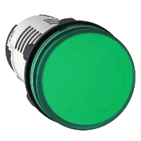 Piloto de Ø 22 - verde - LED integrado 230 V-terminal tornillo - XB7EV03MP