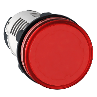 Piloto de Ø 22 - rojo - LED integrado-230..240 V-terminal tornillo - XB7EV04MP