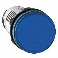 Piloto de Ø 22 - azul -LED integrado - 230..240 V - terminal tornillo - XB7EV06MP